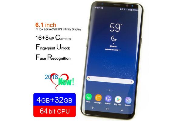 2018 new smartphone 6 1/5 8inch IPS infinity screen 4GB+32GB 16MP andriod  mobile phones dual SIM 64bit CPU