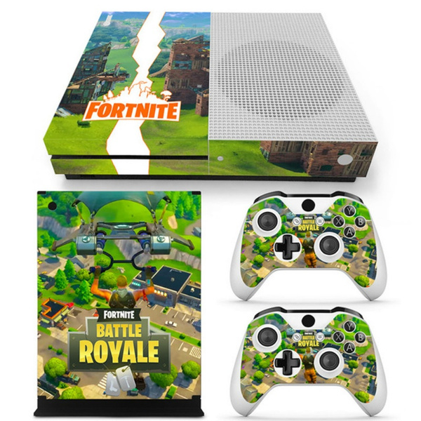 Game Fortnite For Microsoft Xbox One Slim Console Sticker Blue Abstract Vinyl Decals For Xbox One S Controller Skin Stickers