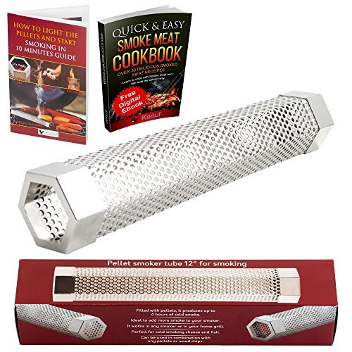 """Pellet Smoker 12/"""" Stainless Steel Tube Easy Way For Hot//Cold Smoking Add Smokey"""