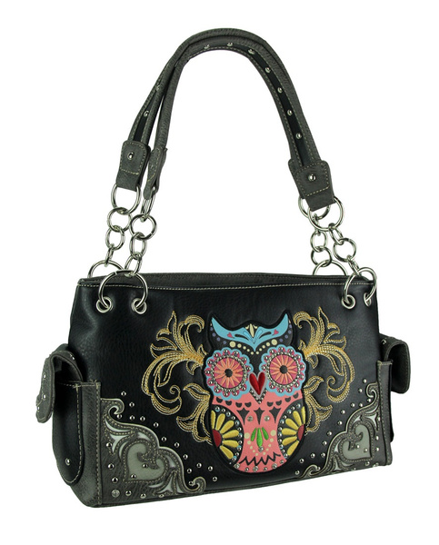 wish | Women Lady Splicing Color Cross Body Bag Owl Pattern Holder Cover Bag Hand bag.