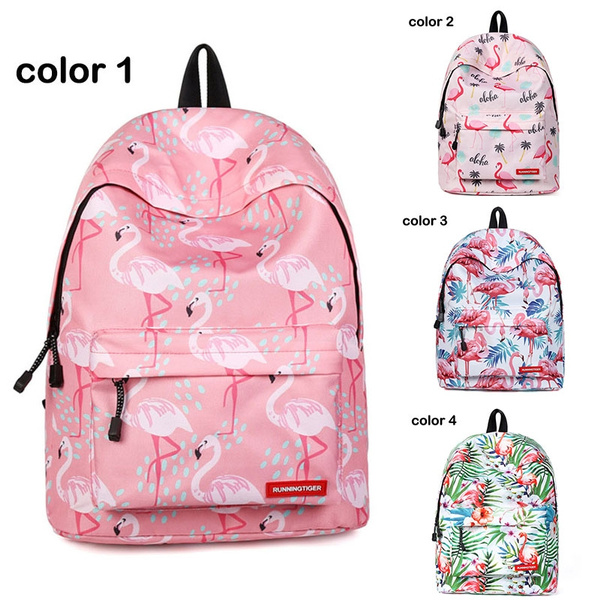 Flamingo  Backpack Bookbag Diaper Bag Full Sized Laptop School Backpack