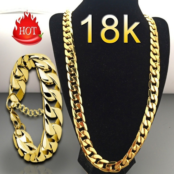 goldplated, yellow gold, Chain Necklace, Fashion