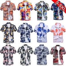 beachshirtsmen, shortsleeveshirtsformen, Shirt, Hawaiian