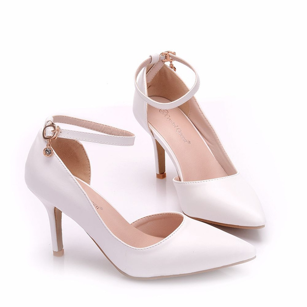 8cm High Heels Shoes Sandals Spring High Heels White Shoes Wedding Shoes Bridal Shoes