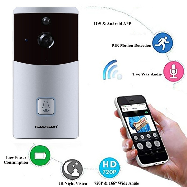 FLOUREON XF-IP007C Home Smart WIFI Video Doorbell 2-Way Audio IR Night Vision