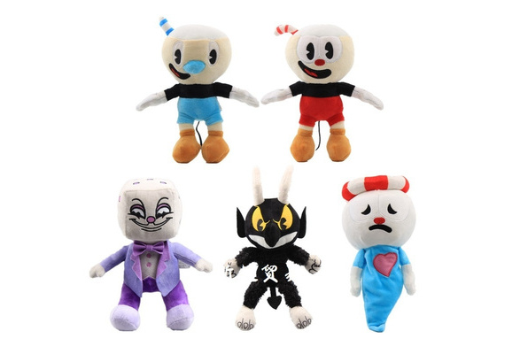 10 Inch Cuphead /& Mugman Plush Kids Toy Mecup And Brocup Stuffed Game Doll Red