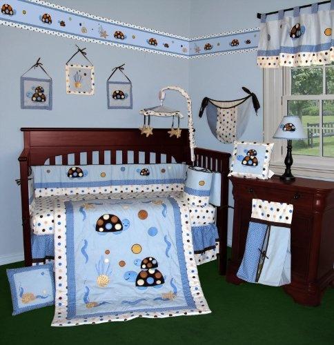 Turtle Parade 13 Pcs Crib Bedding