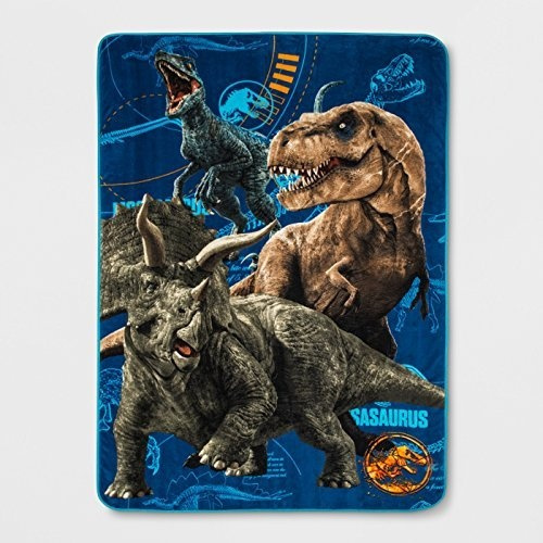 Franco Jurassic World Jurassic Escape Twin Dinosaur Bed Blanket 62 X
