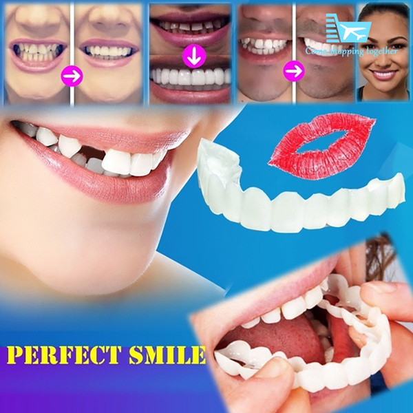 2018 Perfect smile fake tooth cover for tooth correction for bad teeth  perfect smile Plywood teeth whitening silicone Simulation