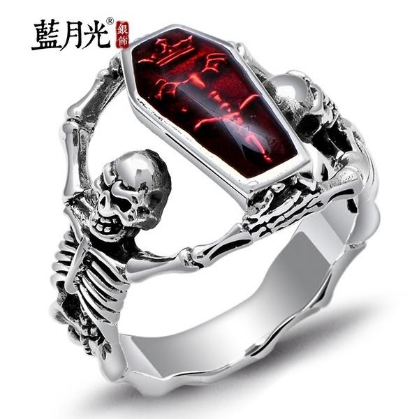 Steel, Men, Jewelry, skull