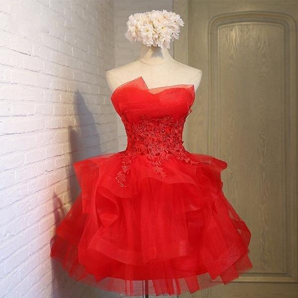 2847b17164862 Cute Short 8th Grade Prom Dresses Junior High Formal Graduation Red  Homecoming Dresses mezuniyet elbiseleri