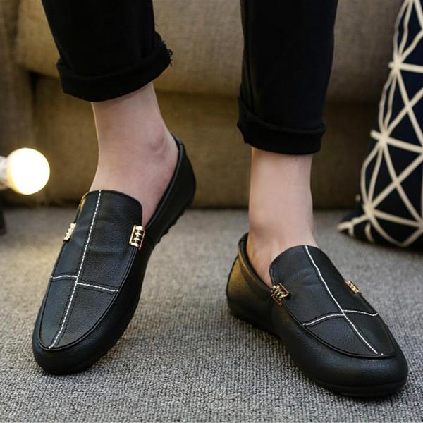 Hombre Vestir 2018 Men Leather Shoes Moccasin Homme Loafers Tenis Masculino Adulto Slip On Flat Boat Shoes Male Footwear