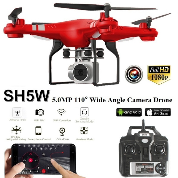 2019 Hot SH5W 1080P 5 0MP Wide Angle Camera 2 4G Wifi FPV Drone RC  Quadcopter with 1080P/720P/480P Camera Live Video Altitude Hold Wifi Real  Time