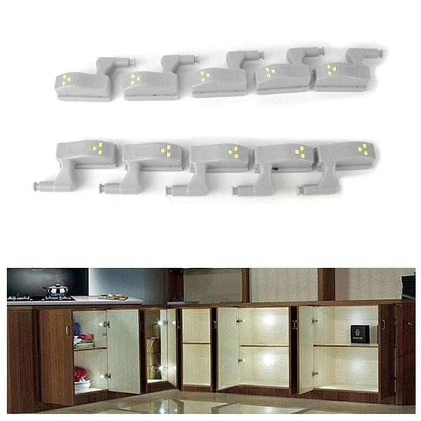 Intelligente Cabinet Froid Lampe Blanc Led Charniere Capteur 10pcs Armoire De rBthdCQxs