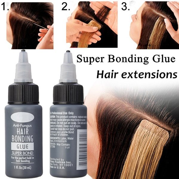 Wish 1pc 30ml Anti Fungus Hair Bonding Glue Super Hairpiece Bond