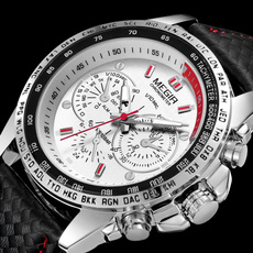 Chronograph, Fashion, Gifts For Men, leather strap
