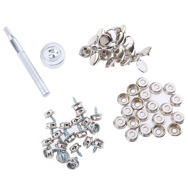 Flameer 62X Boat Canvas Fabric Snap Cover 10mm Screw Button Socket Fastener  Kit