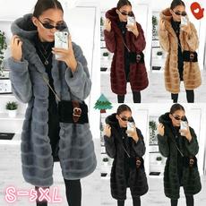 fur coat, hooded, fur, cardigancoat