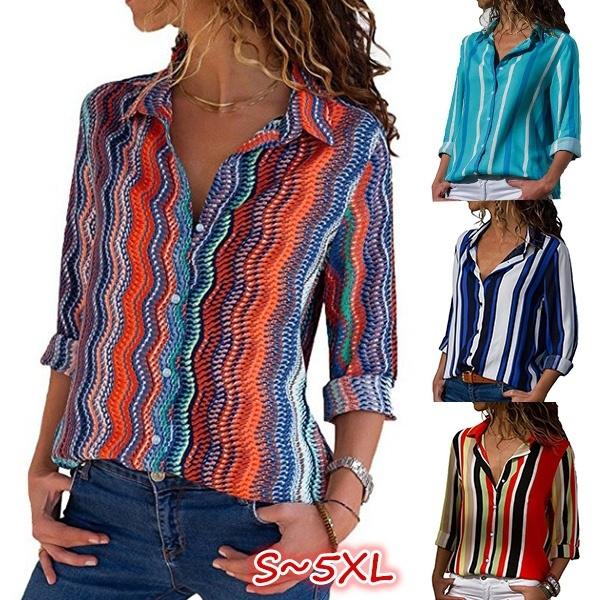 blouse, printedtop, Plus Size, stripeblouse
