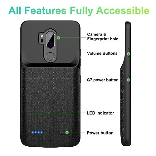 new style 2ebcc df3a3 LG G7 Battery Case, Newdery 4700mAh LG G7 Slim Portable Extended Charger  Case with Soft Edge Full Protection, Battery Charging Juice Pack Case [USB  - ...
