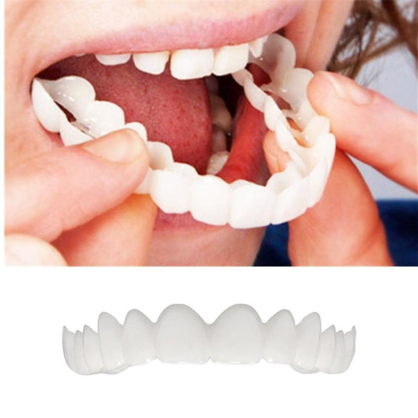 Perfect Smile Oral Care Professional Dental Upper Row Silica Gel Whitening  Flex Veneer Tooth Cover Denture Paste Cover Artificial Teeth