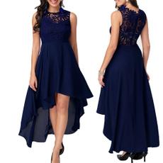 Summer, asymmetrical dress, Lace, Cocktail Party Dress