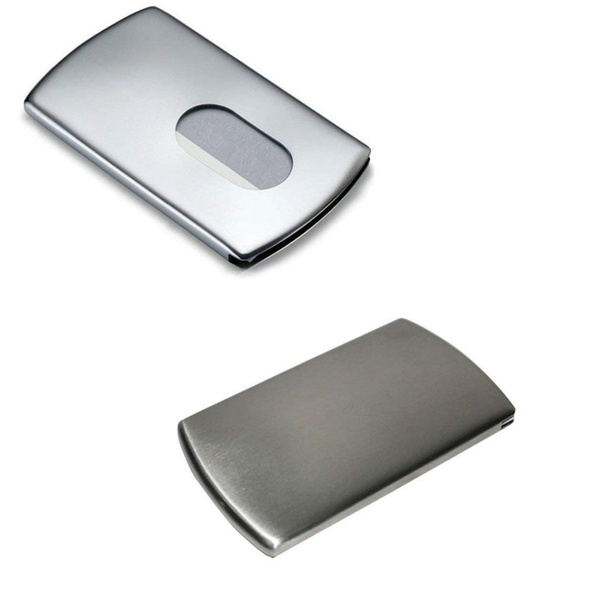 Wish business card holderstainless steel thumb slide out business wish business card holderstainless steel thumb slide out business id cards holder colourmoves