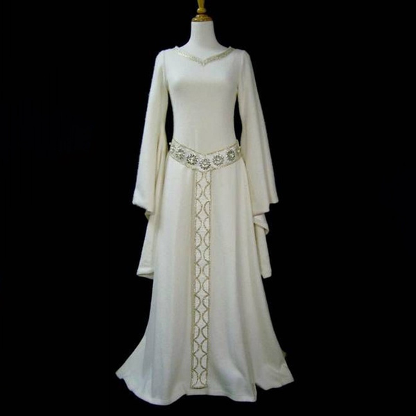 Wish New Fantasy Women Long Elven Dress Medieval Celtic Wedding