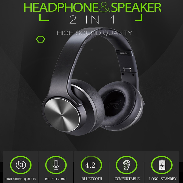 Original Sodo Mh5 Bluetooth Headphones Over Ear 2 In 1 Foldable Twist Out Speaker Wireless Headphone With Nfc Fm Radio Aux Tf Card Hands Free Microphone Wish