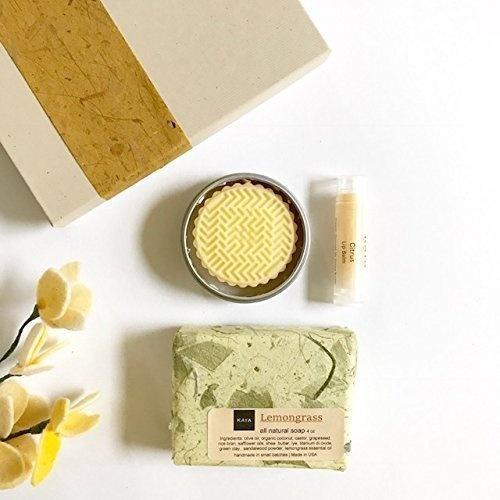 wish kaya citrus mini gift set 100 natural handmade bath and body gift set bridesmaid gift birthday gift welcome kit gift for everyone