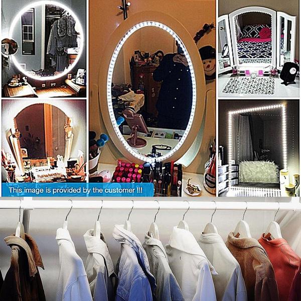 Led Mirror Lights Kit 13ft 4m 240 Leds Makeup Vanity Mirror Light For Vanity Makeup Table Set Wish