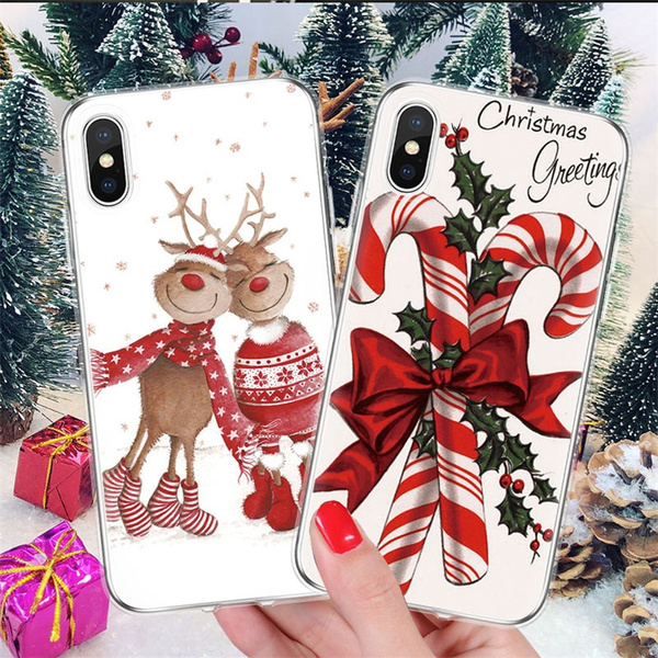 Christmas Gift Deer Mobile Phone Case For Iphone 11 Pro Max Se 2020 Iphone 12 Pro Max X 8 7 6 6s Plus 5 5s Samsung Galaxy S10 S9 S8 S20 Plus