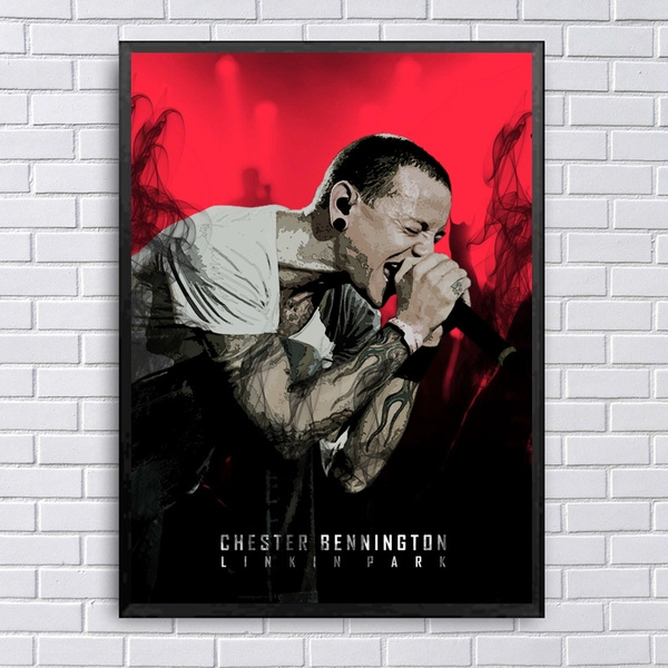Chester Bennington Linkin Park Singer Canvas Print Poster 20x30 Inch Wall Art Decorative Wish