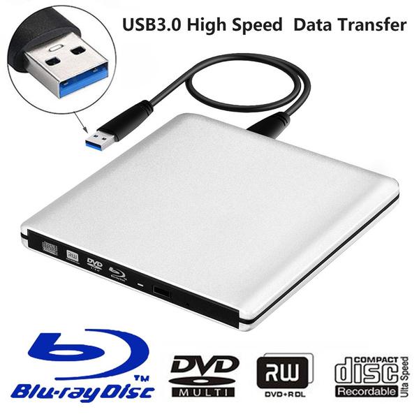 USB 3 0 External Blu-ray DVD/BD/CD Drive Portable Ultra-thin 3D Blu Ray  Player/Writer/Burner for Macbook Desktop Laptop