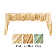 luxury home, Home textile, waterfall, valance