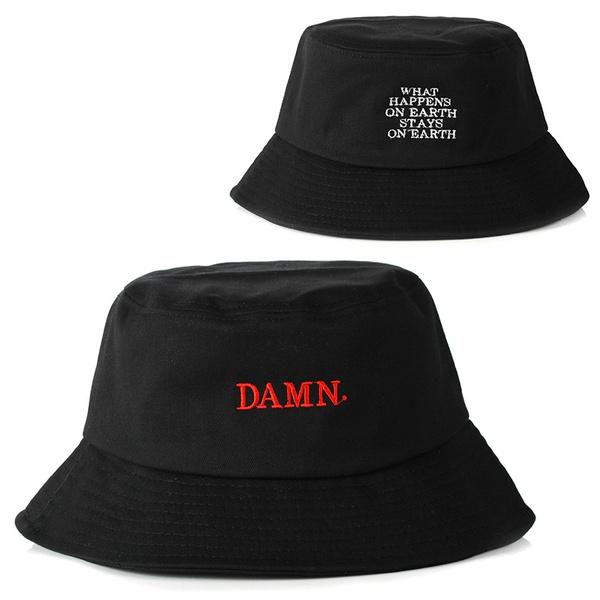d7ffdbcd black bucket hat for women men DAMN embroidery fishermen hat fashion bucket  caps hats