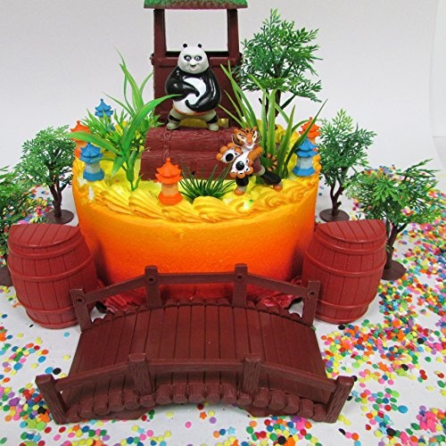 Fabulous Kung Fu Panda Birthday Cake Topper Set Featuring Kung Fu Panda Funny Birthday Cards Online Alyptdamsfinfo