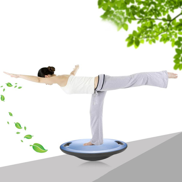 Yoga Wobble Balance Board Stability Disc Non-Slip Bottom and Top Balance  Board with Side Handles