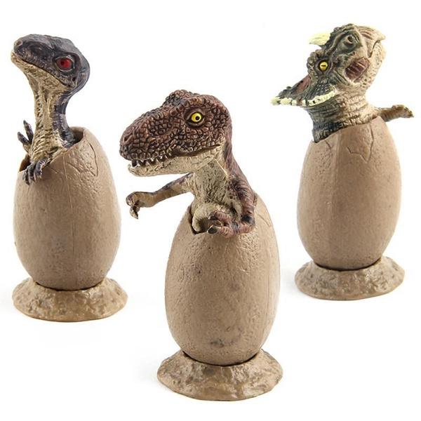 3 pcs/ensemble Creative Drôle Oeuf de Dinosaure Modèle Animal Figurine  Ornements Fée Jardin Décoration Enfants Jouets Cadeau