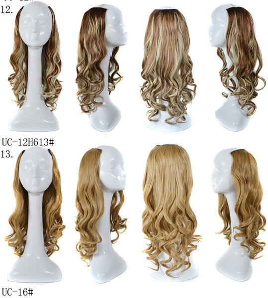 Wish U Part Curly Wig Half Part Wig Clip In Curly Hair Extension