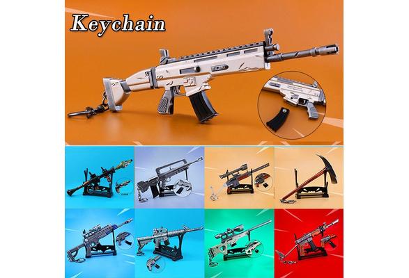 Assault Rifle Fortnite Gun Keychain SCAR M16 Shotgun Sniper Rocket Launcher