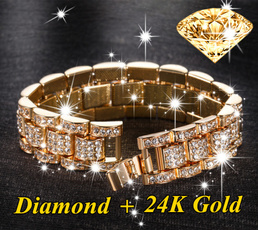 New Hot Mens Womens Diamond 18kgold 24kgold 925silver