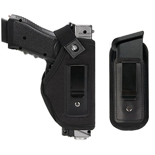 TACwolf Universal IWB Holster Magazine pouch For Concealed Carry Inside The  Waistband Fits firearms Glock 19 17 26 27 43 S&W M&P Shield 9/40 1911