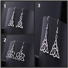 stainless steel earrings, dangling, openingceremonygift, Stainless Steel