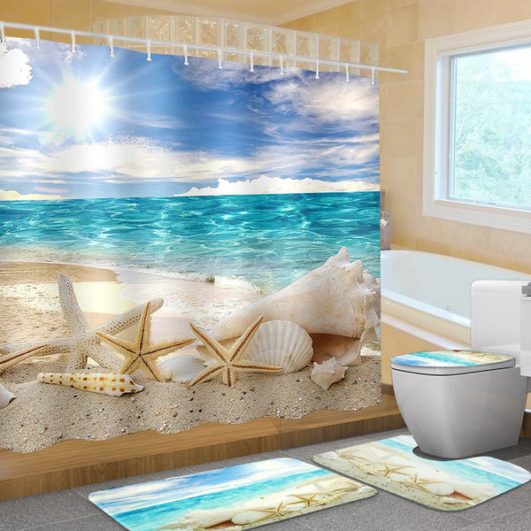 Summer, Bathroom, Home Decor, Waterproof