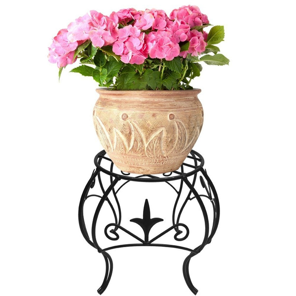 a07bb04b7068 Amagabeli Metal Potted Plant Stand 10 inch Rustproof Decorative ...