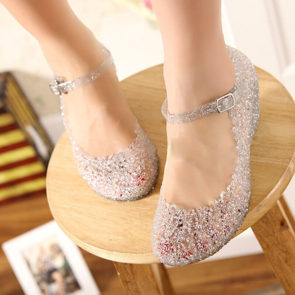 143a676958 New Arrival Fashion Summer Girls Wedge Jelly Shoes Beach Comfortable Women  Sandals Wedges Sandals High Heels Glass Slipper Jelly Shoes for Women