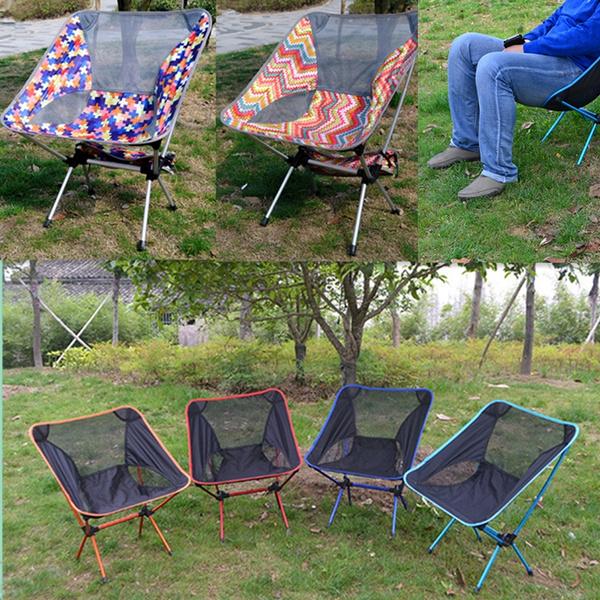 Fabulous Ultralight Portable Camping Recliner Fishing Moon Chair Outdoor Barbecue Portable Folding Chair Beach Chair Machost Co Dining Chair Design Ideas Machostcouk