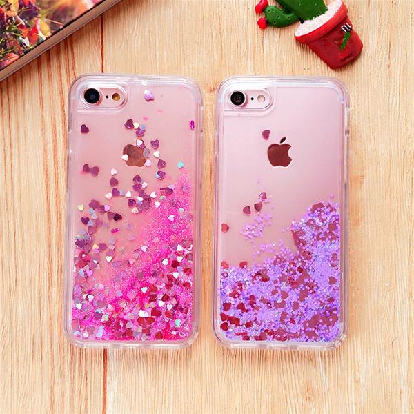 Glitter Bling Phone Case For Fundas iphone 6 6s Plus Women Liquid