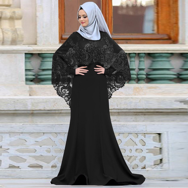 Wish 2018 New Season Muslim Prom Dress For Women Covered Abiye